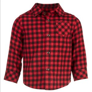 Baby Boys Check Flannel Shirt Bundle